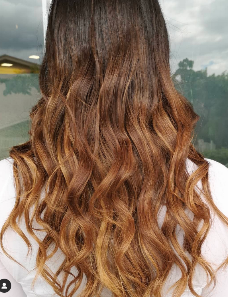 Winter colors for hair- beautiful Gold Brown