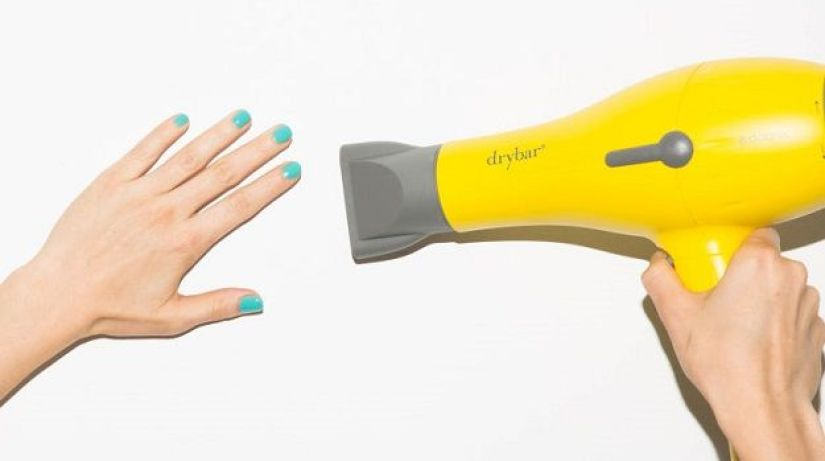 Drying Nails with a Hair Dryer