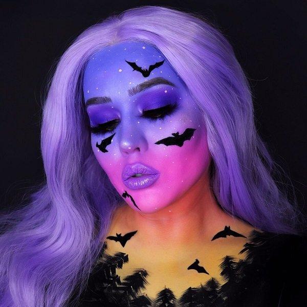 HAlloween Make Up Ideas- Flying Bats