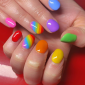 Rainbow Design Nails