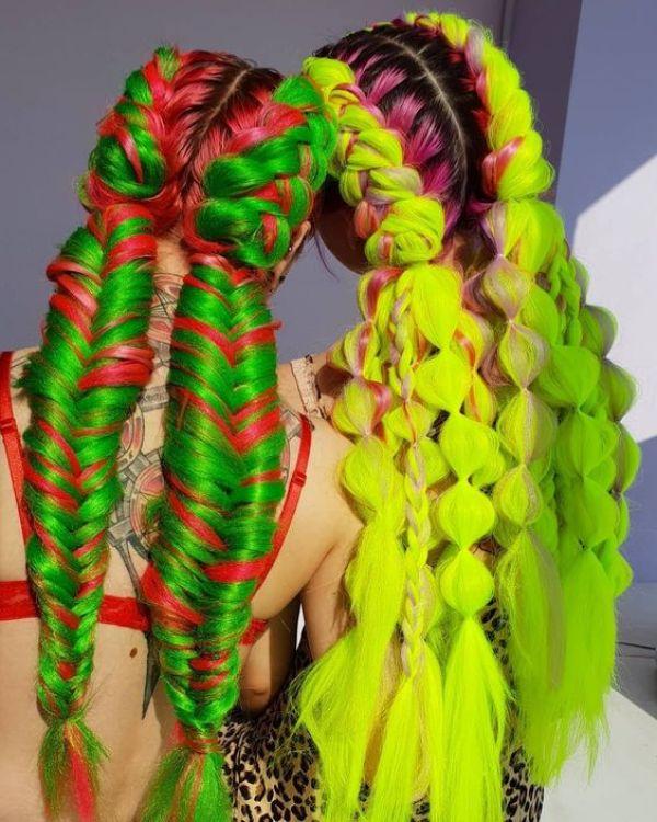 Christmas Green Hair