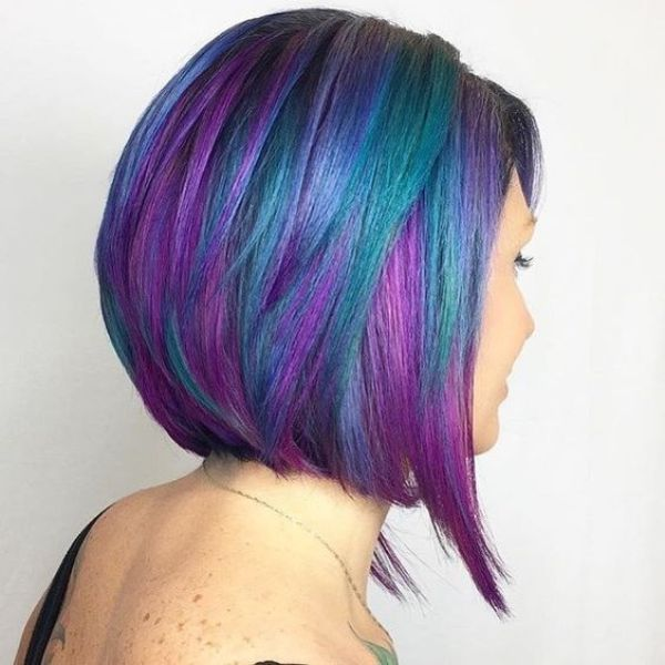 Color Green and Purple Hair