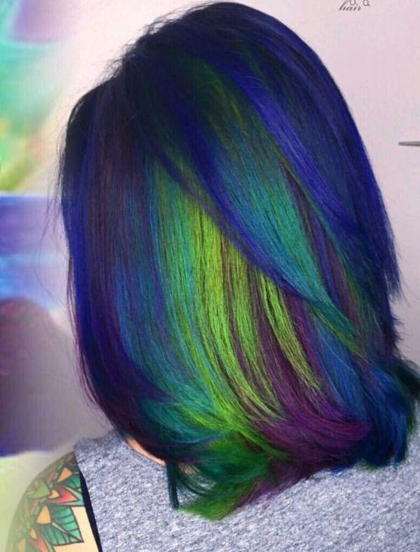 Mermaid green Hair