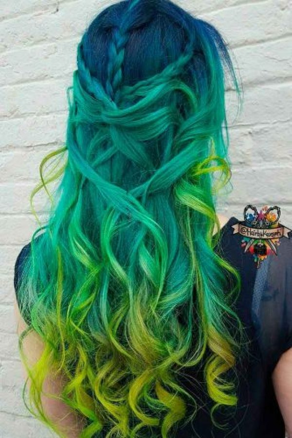 MultiColored Green Hair