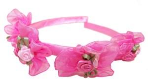 Girls flower girl white or pink head band