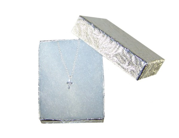 Girls silver necklace with cross pendant-2088