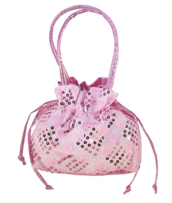 Girls pink drawstring bag