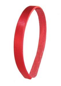 Girls Red Satin Headband