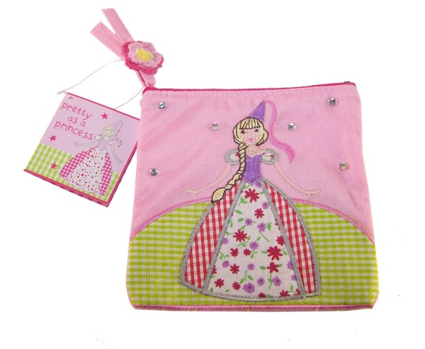 Girls pink princess purse