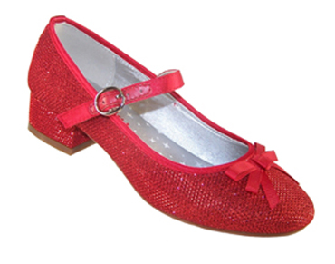 Girls red party shoes