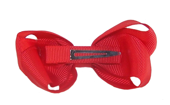 Girls red bow hair accessory-2911