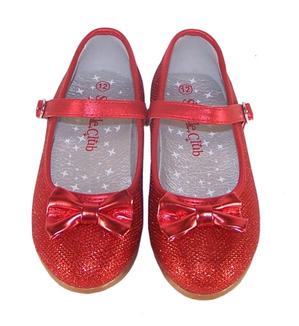 Girls sparkly red ballerina party and occasion shoes -4013
