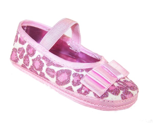 Baby girls pink soft sole party shoes-0