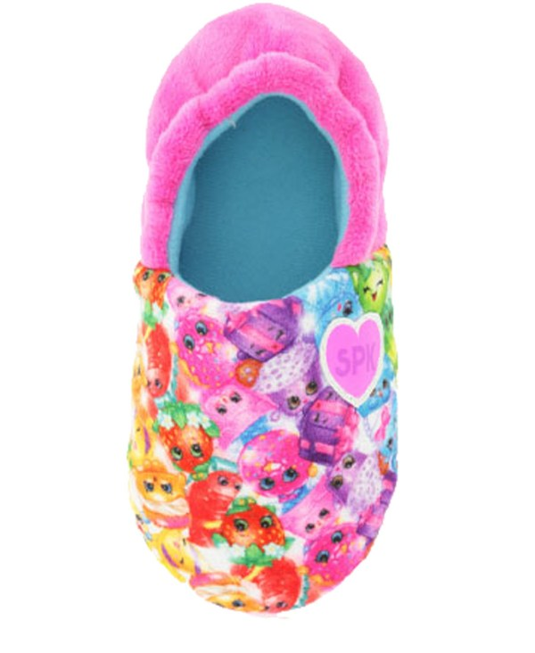 Shopkins Girls Pink Slippers-3445