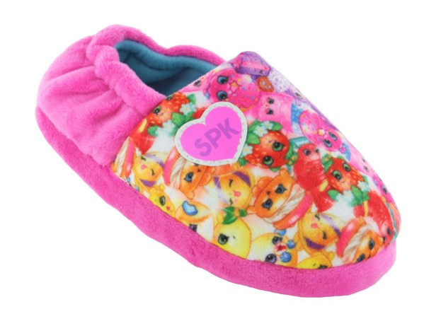 Shopkins Girls Pink Slippers-0