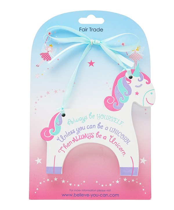 Unicorn hanging plaque-4068