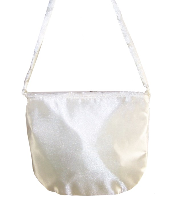 Girls ivory satin and lace over the body bag-4047