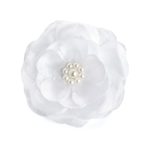 Girls white satin flower girl and bridesmaid ballerina shoes -5759