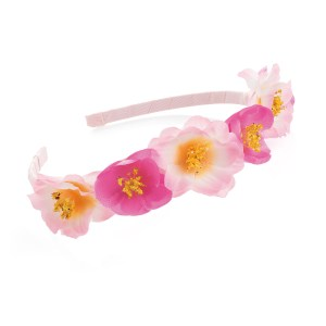 Girls two tone pink flower headband