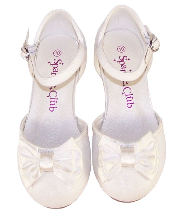 Girls sparkly flower girl and bridesmaid shoes and satin bag-4700