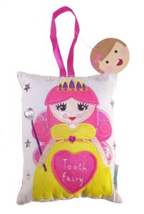 Tooth fairy sparkly cushion