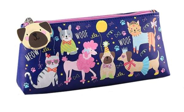 Girls blue pets pencil case-0
