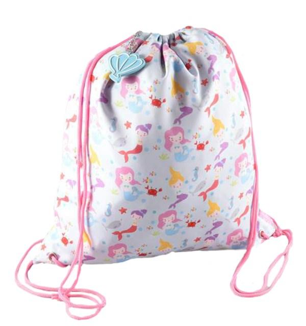 Girls mermaid drawstring kit bag -0
