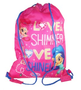 Girls Shimmer Shine pink drawstring kit bag