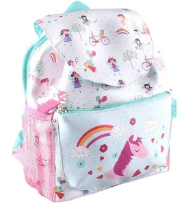 Girls Unicorn and Fairies PVC backpack