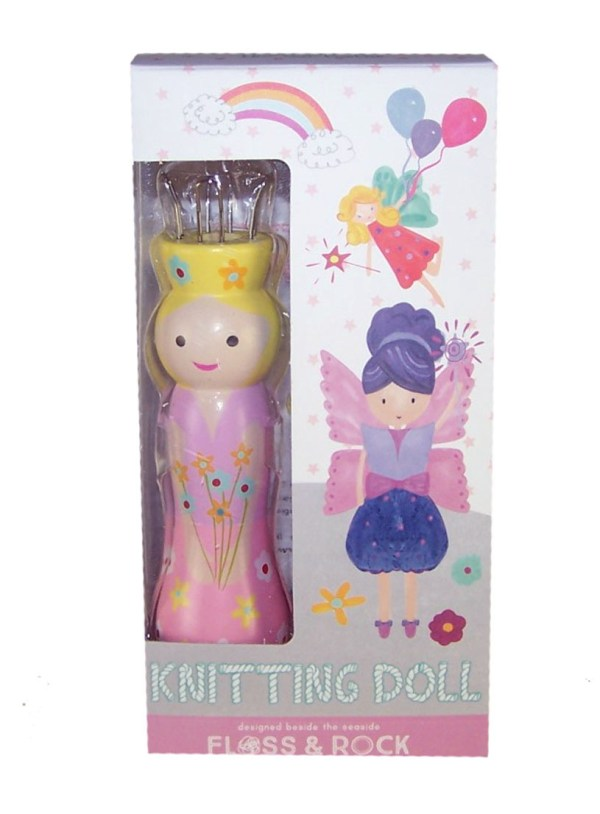 Fairy knitting doll with 6 coloured wools-4994