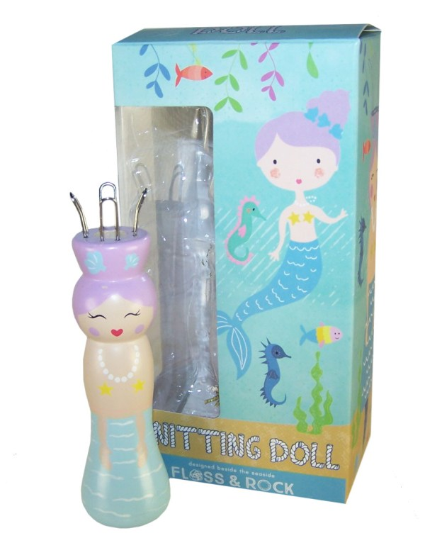 Mermaid knitting doll with 6 coloured wools-0