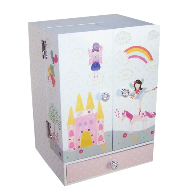 Unicorn and fairies sparkly musical jewellery wardrobe -5164