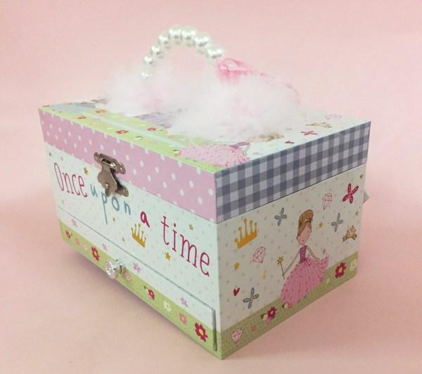Girls rectangular princess musical jewellery box -5139