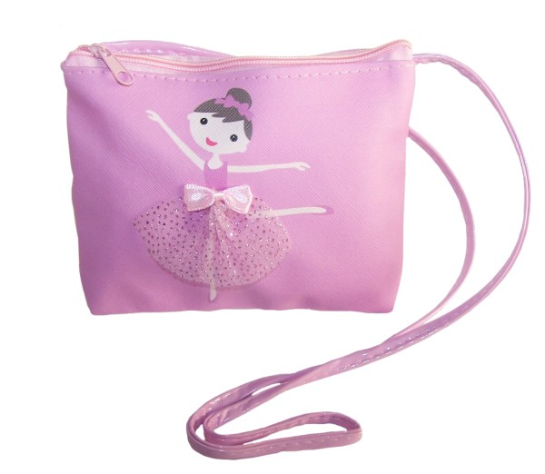 Young girls pink over the body small ballerina bag -0