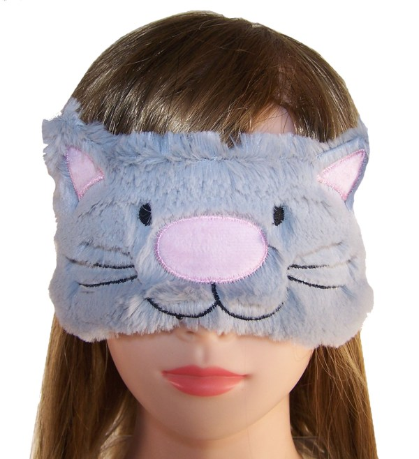 Childs grey furry cat eye mask-5226