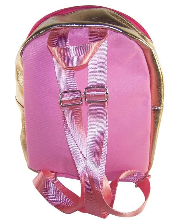 Childrens gold and pink hologram backpack-5231