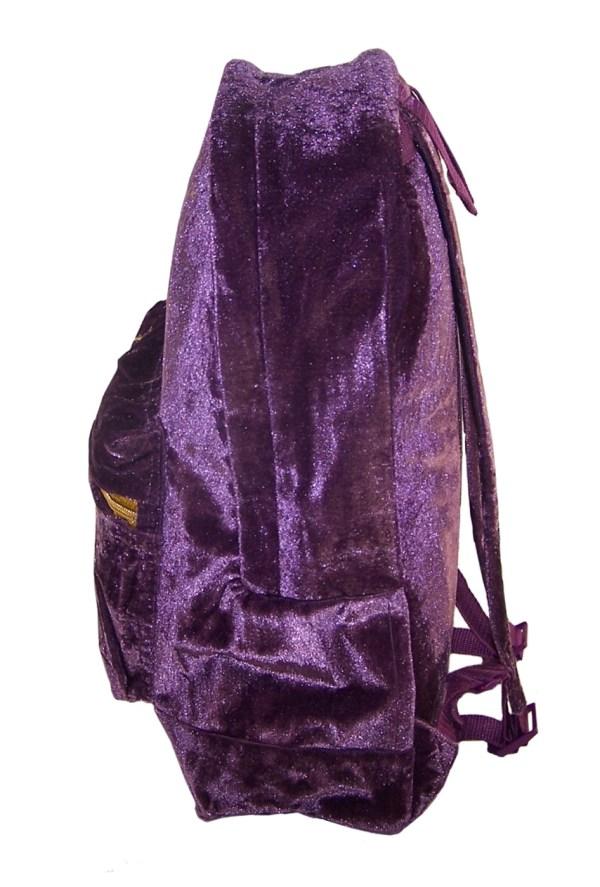 Girls Harry Potter Hogwarts deep purple velvet large backpack-5433