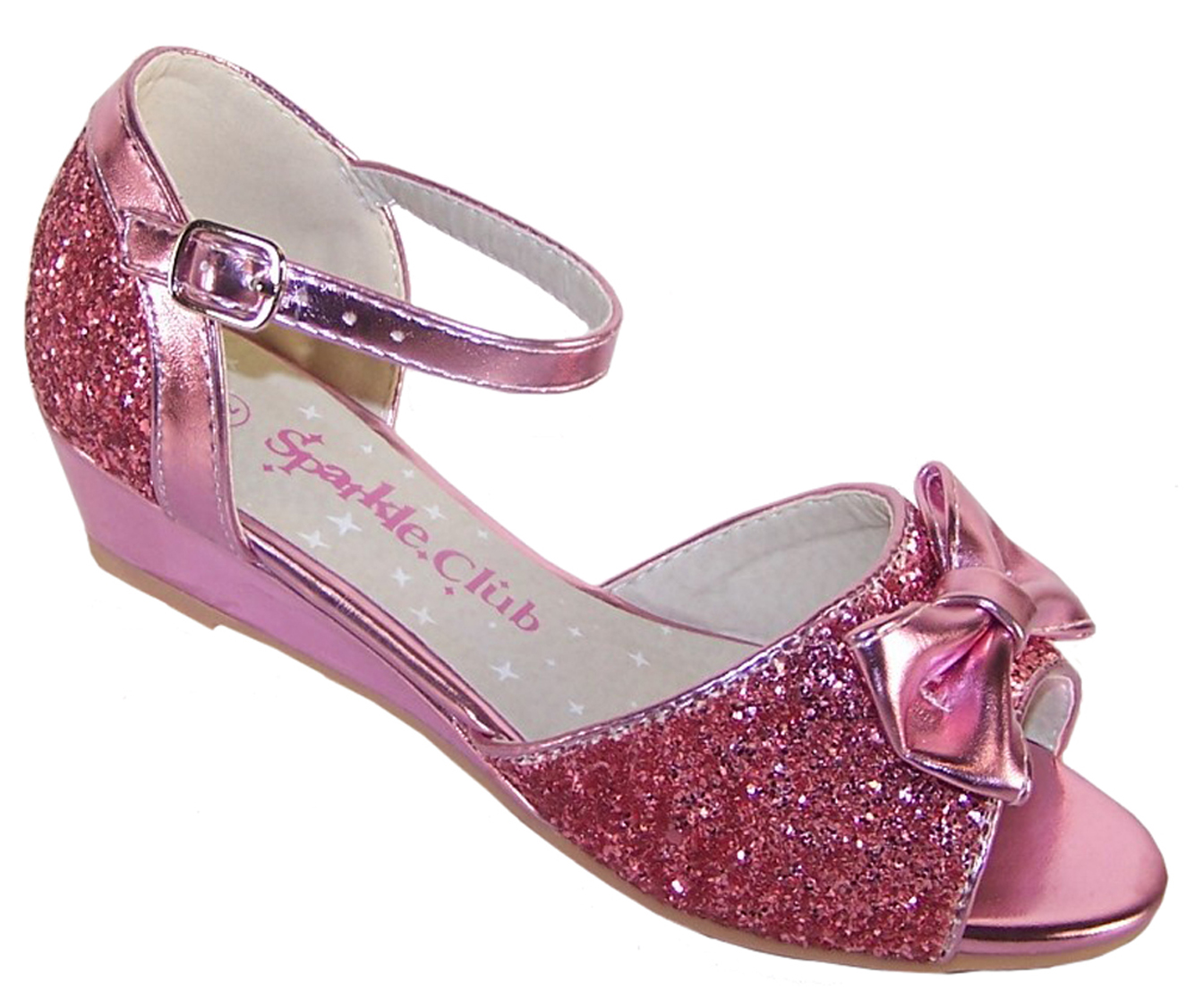 Buy Girls Childs Pink Sparkly Shoes