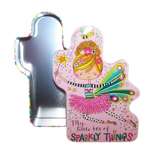 Childrens fairy shaped storage tin-5375