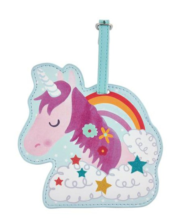 Childrens Unicorn chunky luggage tag-0