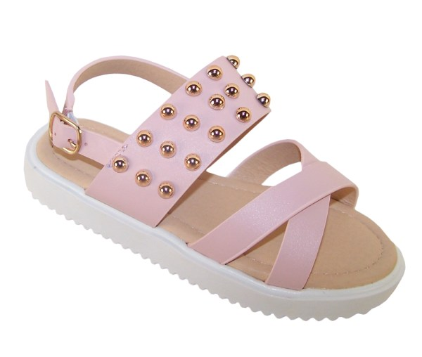 Girls pink fashion summer sandals-0