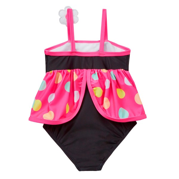 Girls black and pink novelty bird swimming costume-5675