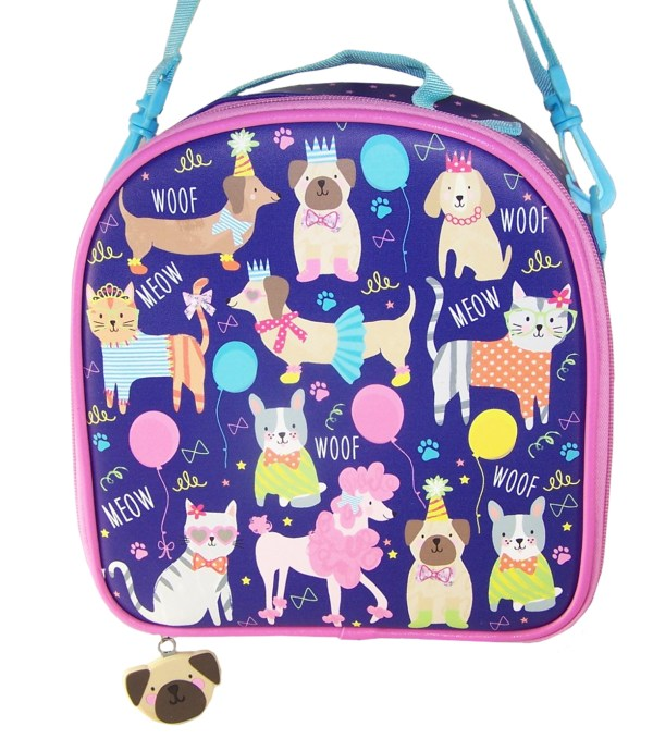 Childrens blue pets insulated lunch bag-5790