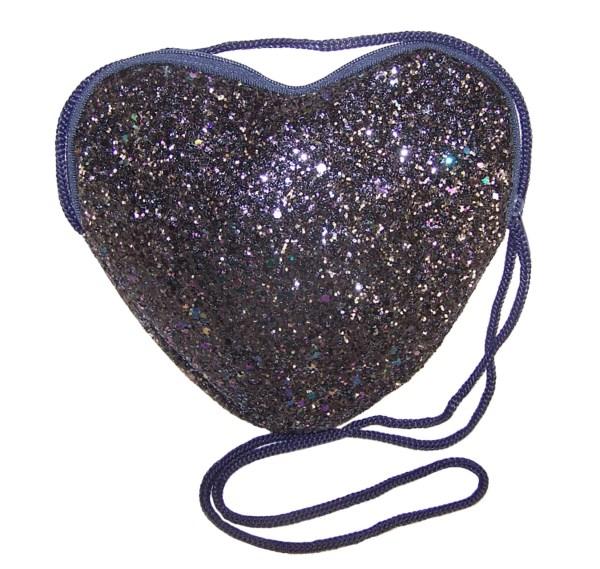 Girls dark blue velvet ballerina party shoes with matching glitter bag-5981