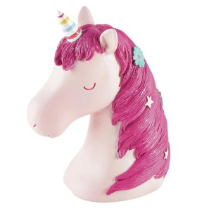Childrens pink Unicorn money bank