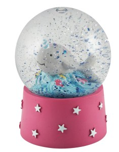 Childrens mini dolphin snow globe