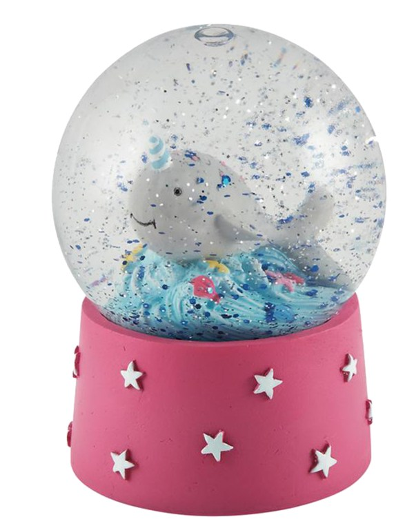 Childrens mini dolphin snow globe-0