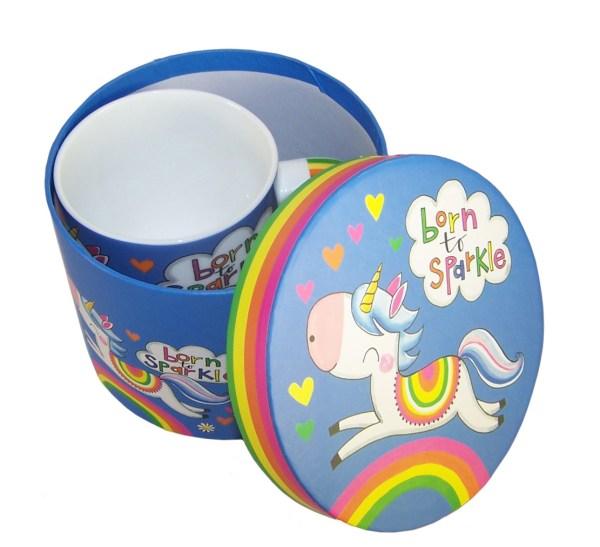 Unicorn colourful china mug in a gift box-6022