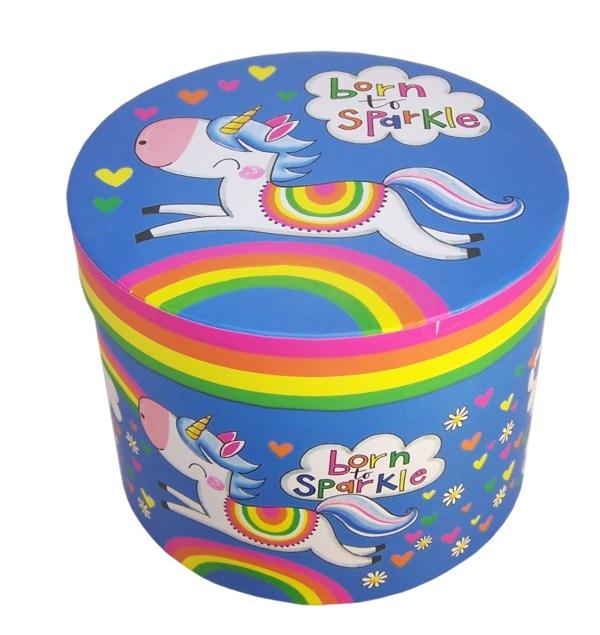 Unicorn colourful china mug in a gift box-6025