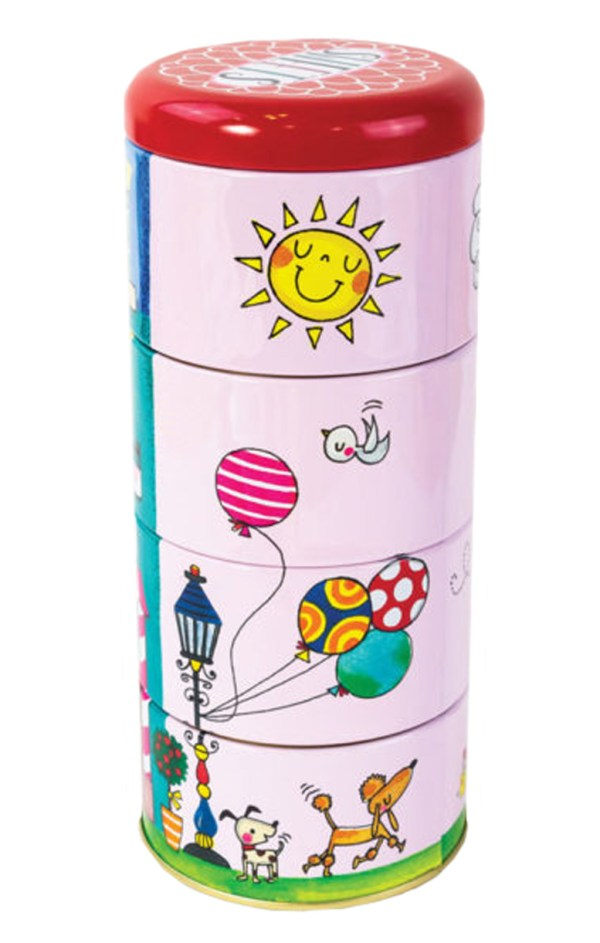 Childrens stacking sweet shop storage tins-6000